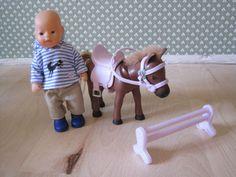 Baby Born Mini World Pony Pferd mit Puppe neu Puppenjunge