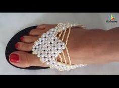 Resultado de imagem para chinelos decorados miçangas passo passo