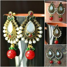 Traditional Styled Earrings Item code: D0087 Price: Rs. 350 https://www.facebook.com/messages/JewelryGalaPakistan