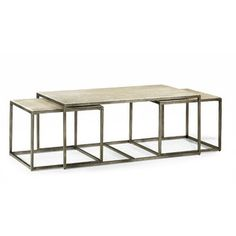 Nesting tables are the perfect solution for watching sporting events or having friends over for game night. Modern Basics Rectangular Bronze Coffee Table from Hammary Furniture. 3 Piece Coffee Table Set, Stylish Coffee Table, Large Coffee Tables, Coffee Table With Storage, Coffe Table, Large Table, Small Tables, Upscale Furniture, Smart Furniture