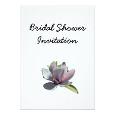 bridal shower invitations magnolia cheap inexpensive bridal shower party card