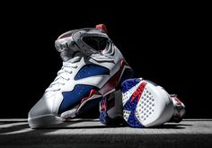 "#sneakers #news Celebrate Team USA's Quest For Gold With The Jordan 7 ""Olympic Alternate"""