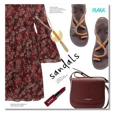 """Plaka sandals"" by svijetlana ❤ liked on Polyvore featuring IRO, Lancaster, NYX, sandals, handmade and plaka"
