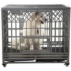 Petdanze Dog Pen Metal Fence Gate Portable Outdoor Heavy