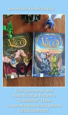 """Eine spannende Reihe für Zweitleser: """"Vico Drachenbruder"""" - O. Pautsch, T. Grubing - Buchkinderblog Kids Converse, Books For Kids, Amulets, Brother, Dragons"""