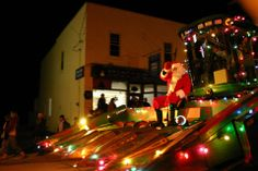 Santa rides a huge tractor in the Farmers' Parade of Lights at Schomberg's A Main Street Christmas festival, which starts 3pm on the first Saturday of December every year. Featuring not one but two parades (4pm and 8pm), street performers, carollers, children's entertainers, fireside readings, children's crafts, holiday creations, refreshments, and an art and craft show. Art And Craft Shows, Arts And Crafts, Children's Entertainers, Wood Bridge, Family Events, Romantic Getaways, B & B, Main Street, Bed And Breakfast