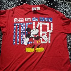 f63b5ec3 Dm with any questions This is a super dope vintage Mickey Mouse t shirt  that says. Depop