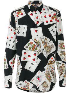 Dolce & Gabbana Playing Cards print shirt