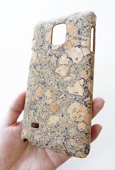 Eco-Friendly Natural Black Wood Cork Art Phone Cover Hard Case For Samsung Galaxy Note 4 IV by Yunikuna