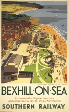 Vintage UK Railway Poster. Hope to get to this favorite stretch of the coast.