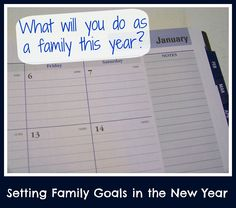 Setting Family Goals for the New Year