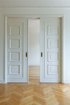 Image result for black double pocket doors