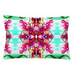East Urban Home Tropical Floral Orchids 2 by Dawid Roc Pillow Sham Size: King