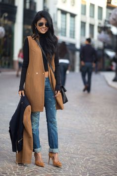 Perfect Winter Outfit - black n brown Winter Outfits 2014, Fall Outfits, Look Fashion, Womens Fashion, Fashion Trends, Fashion Coat, Feminine Fashion, Fashion Hacks, Street Fashion