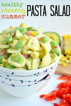 Healthy Creamy Summer Pasta Salad