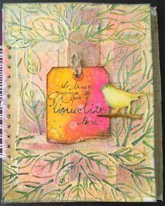 """papillon sur la branche: using the Balzer Designs """"Leaf Frame"""" stencil!"""