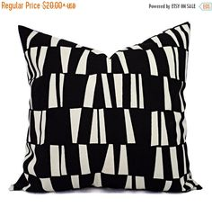 15% OFF SALE Two Black Pillow Covers  Black by CastawayCoveDecor