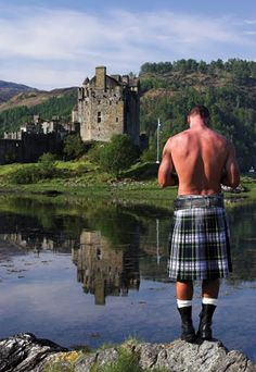 Yep, I'm sure he always hangs around in a kilt, shirtless. Not that I'm complaining, but call me skeptical.