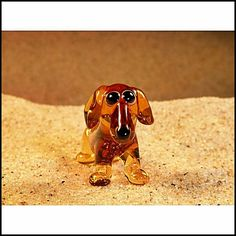 Cute Glass Super Mini Fugirune  Dachshund Light by GeoSpyorg