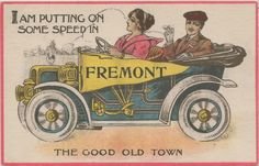 CEN Fremont MI Circa 1910 EARLY AUTOMOBILE ERA MEANS WOMEN DRIVERS TOO!!!