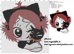 Schema punto croce Ruby Gloom e Gloom Kitty 100x109 5 colori.jpg (3.28 MB) Mai osservato