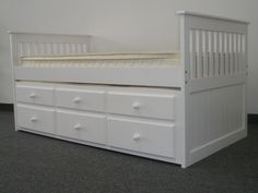 Captains Bed Twin with Twin Trundle White delivered for only $425  Victoria's new bed!