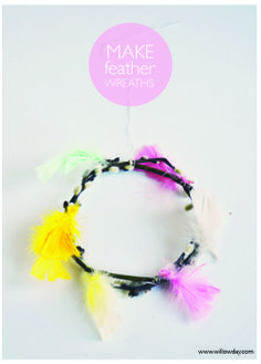 willowday: Feather Wreaths
