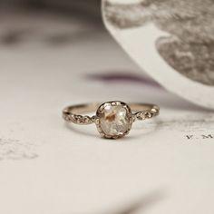 Love this raw diamond ring..