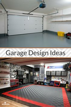 9 Creative Garage Design Ideas for Millennial Homeowners Thinking of a garage makeover? We have nine smart garage design ideas for you. From a home theatre to a game room -- turn your garage into anything Armoire Garage, Garage Closet, Garage Cabinets, Garage Art, Garage Doors, Garage Game Rooms, Garage Shop, Car Garage, Garage Workshop Organization