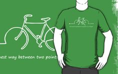 Between Two Points on a Bicycle for Dark Colors