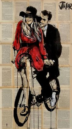 "Saatchi Art Artist Loui Jover; Drawing, ""days in bliss"" #art"