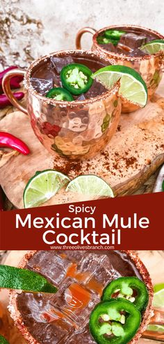 Spicy Mexican Mule Cocktail recipe is a twist on the classic drink using tequila instead of vodka with ginger beer, lime, and heat with a salt rim. A simple and delicious Moscow Mule variation. Mexican Alcoholic Drinks, Mexican Cocktails, Gin Cocktail Recipes, Alcohol Drink Recipes, Alcoholic Cocktails, Cocktail Ideas, Tequila And Lemonade, Best Tequila, Mexican Mule Recipe