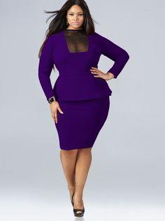 Trendy plus size dresses 2014: love the color