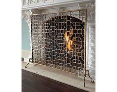 Single-Panel Fireplace Screen
