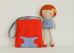 My Teeny-tiny Doll® Hannah and Carry-Me Tote Bag Set