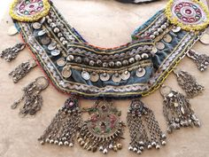 B015072  Vintage Tribal Kuchi Belt  Belly by 7SISTERStradingco, $42.50