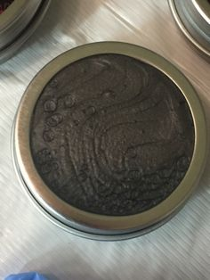 Pebeo Pewter on a round aluminum storage tin. Loving the texture and depth of this one. Wine Stoppers, Resin Art, Pewter, Tin, Art Pieces, Alcohol, Organic, Texture, Storage