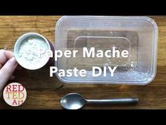 Simple and easy 2 ingredient Paper Mache Paste recipe for easy crafts with kids. Environmentally friendly glue for model making. Paper Mache Mix, Paper Mache Paste, Paper Mache Bowls, Making Paper Mache, Paper Mache Crafts, Paper Crafts For Kids, Easy Crafts, How To Paper Mache, Paper Mache Pinata