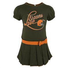 727251173 Browns Girl Drop Waist Dress #Cleveland #Browns #Infant #Baby #Toddler #.  babyfans