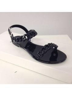 GIVENCHY Givenchy Chain Strap Flat Sandals. #givenchy #shoes #https: