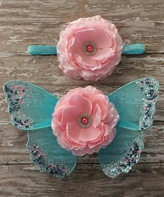Look at this The Tiny Blessings Boutique Baby Pink & Turquoise Headband & Wings on today! Boutique Design, Baby Boutique, New Baby Girls, Baby Kids, Tiny Blessings, Baby Fashionista, Pink Turquoise, Toot, Newborn Outfits