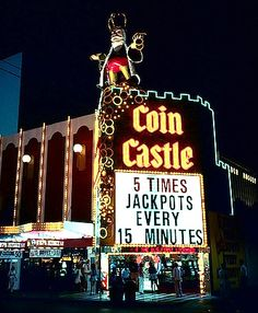 Turning Back The Clock: Coin Castle Nightclub Design, Fremont Street, Las Vegas Photos, Retro Images, Nevada, Monte Carlo, Clock, Neon, History