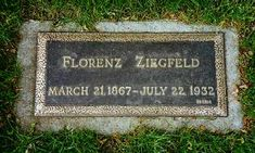 "Florenz Ziegfeld - Theatrical Producer. Created and produced the ""Ziegfeld Follies,"" which ran annually from 1907 until 1931 and showcased the works of such prominent composers as Irving Berlin, George Gershwin and Jerome Kern. The ""Follies"" also featured many performers including Fanny Brice, Ruth Etting, W. C. Fields, and Will Rogers."