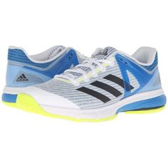 pretty nice b5384 f1e99 adidas Court Stabil 13 (White Black Shock Blue) Men s Volleyball Shoes (
