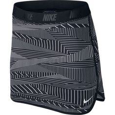 Black/Metallic Silver Nike Ladies Flip Print Pull On Golf Skort, powered by Dri-FIT technology to help you stay dry and comfortable. Nike Flex fabric in the outer skirt stretches with your body so you(Fitness Femme Nike) Junior Golf Clubs, Ladies Golf Clubs, Golf Attire, Golf Outfit, Mtb, Golf Fashion, Fashion Outfits, Fashion Clothes, Ladies Fashion