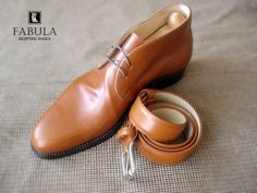 Fabula Bespoke Shoes.  Unique handmade, bespoke men's shoes. Modell: Chukka boots (cognac).  Look to my website: www.fabulashoes.hu