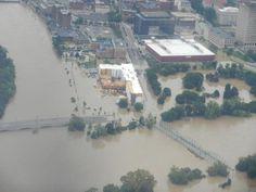 Downtown Binghamton flood 2011