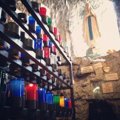 grotto in mortuary chapel in #neworleans #nola — at Our Lady of Guadalupe and The International Shrine of St. Jude.