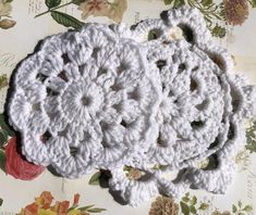 Custom Crochet Coasters/Doilies! These are custom crochet doilies/coasters that are a perfect accessory to any dinner table or coffee table. Ordering Options (1) Select style you would like from the options. (2) Select which colour you would like shown in the pictures and put in the personalization Crochet Doilies, Crochet Lace, Custom Coasters, Elegant Flowers, Tea Party, Delicate, Etsy, Dinner Table, Creative