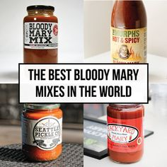 The Best Bloody Mary Mixes in The World — The Drunken Tomato Best Bloody Mary Mix, Bloody Mary Bar, Vodka Cocktails, Drinks, Beverages, Bloody Mary Recipes, Day Drinking, Great Recipes, The Best